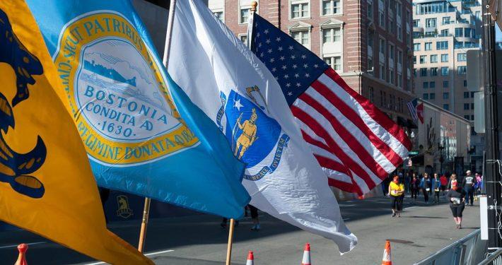 Boston_Marathon_Finish_Line_with_Flags_(26794784006)